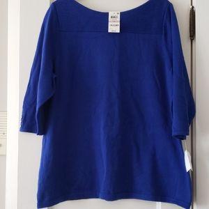 NWT Karen Scott Balletneck Sweater 1X
